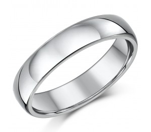 Titanium Court Shaped Wedding Ring 5mm