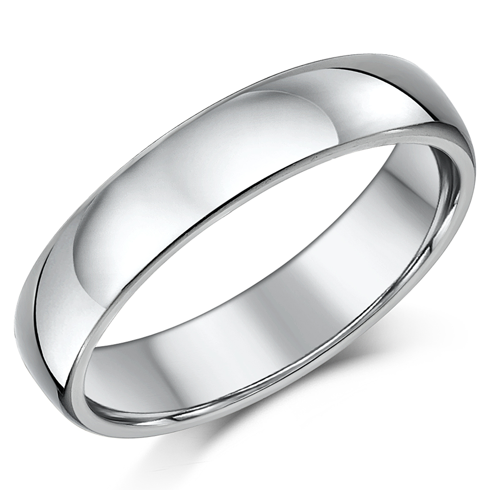 5mm Unisex Cobalt Band Heavy Weight Court Shaped Polished Wedding Band