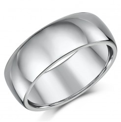 Titanium Court Shaped Wedding Ring 8mm