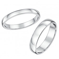 His & Hers 4&6mm Cobalt Heavy Court Wedding Bands