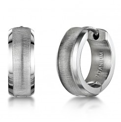 Titanium Matt and Polished Hinged Hoop Earring
