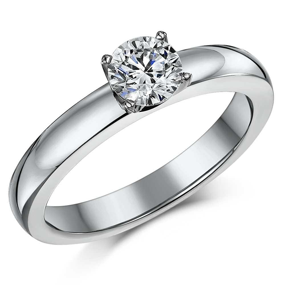 bands gold cut solitare princess solitaire white engagement ring diamond certified