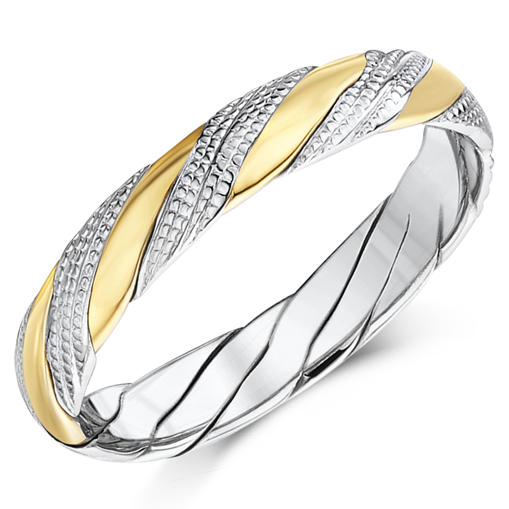 twisted ring design unique handmade wedding bands for men and women