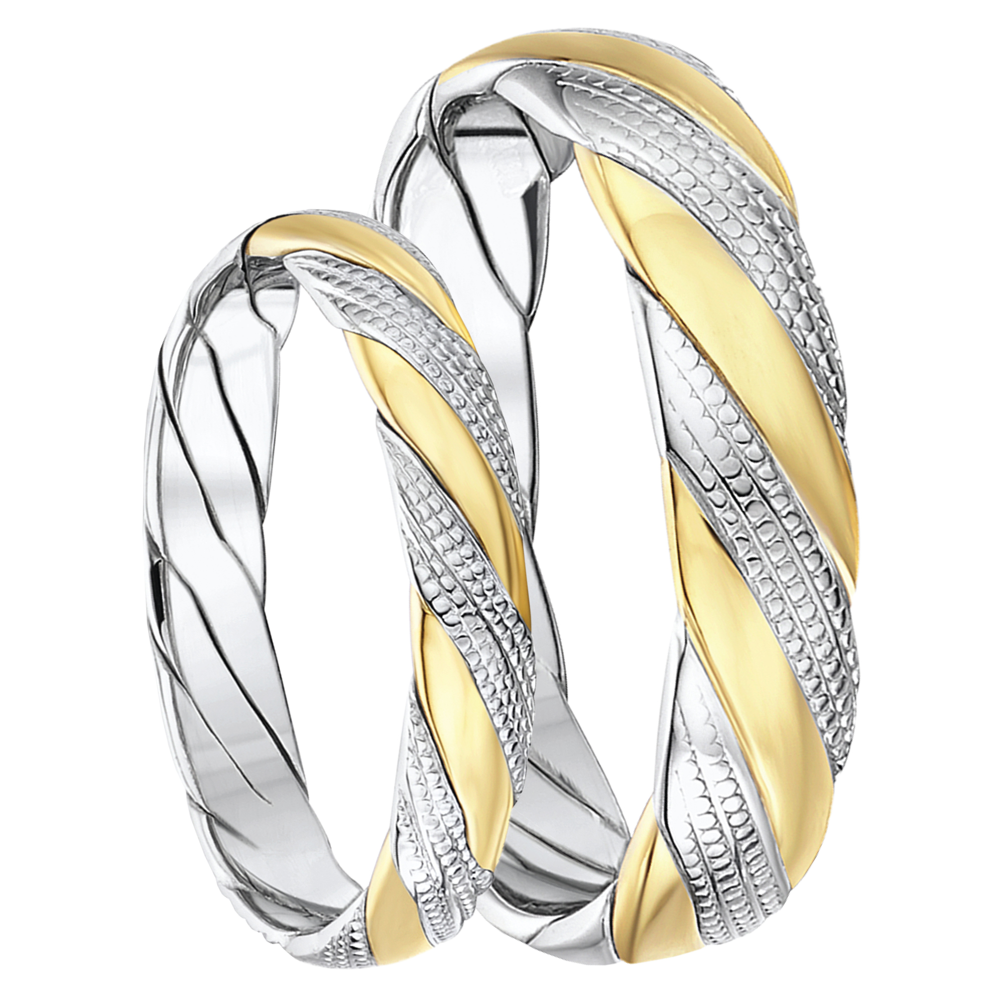 color bands stackable ct rings tri band twt diamond in wedding d gold