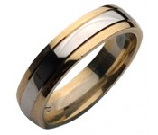 9ct 2 Colour Gold Wedding Rings
