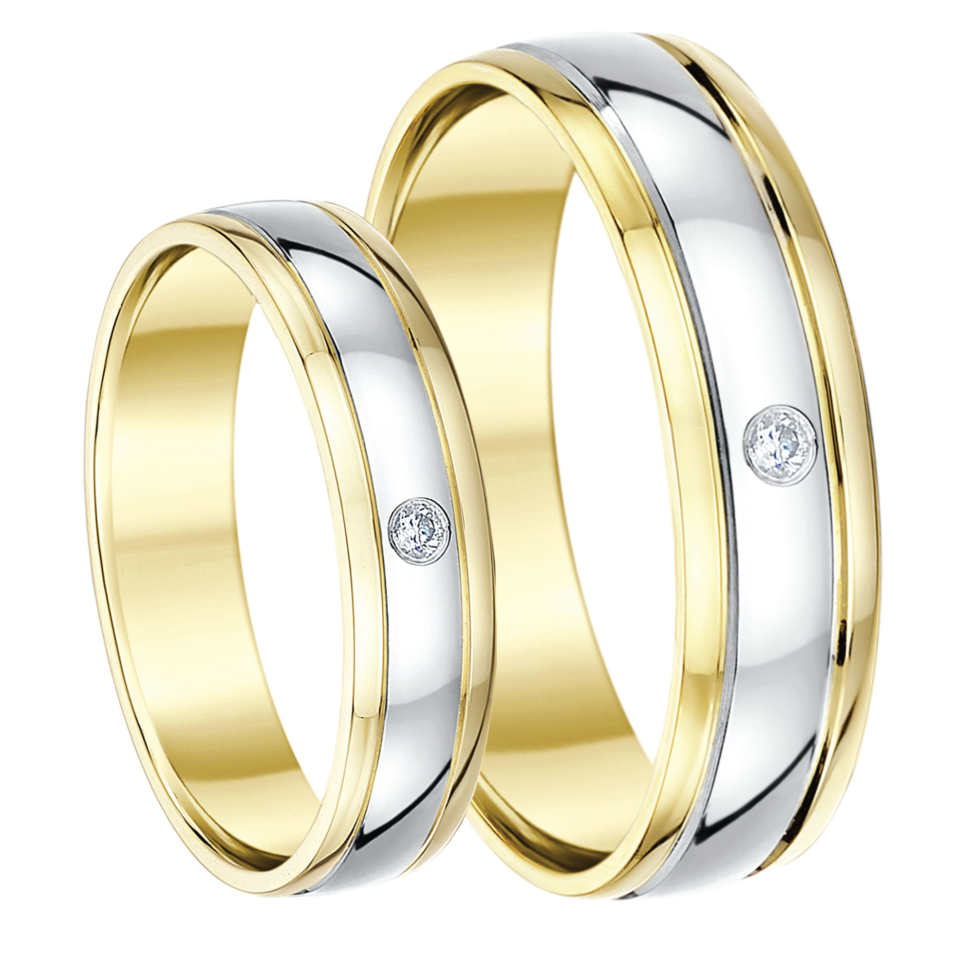 in stackable twt gold wedding diamond ct color band tri rings bands d