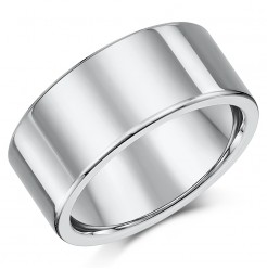 Titanium Flat Court Shaped Wedding Ring 10mm