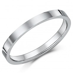 Titanium Flat Court Shaped Wedding Ring 2.5mm