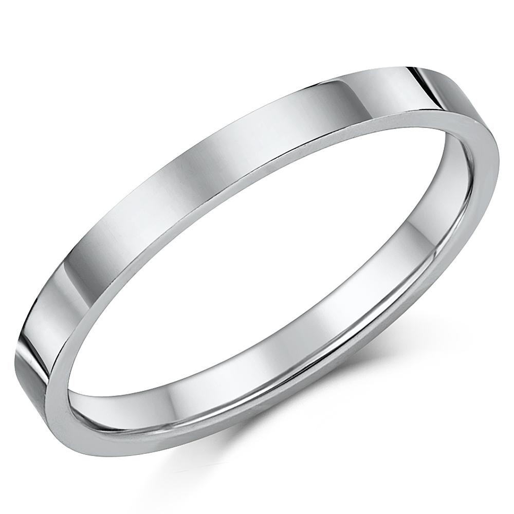 Titanium Flat Court Shaped Wedding Ring 2.5mm