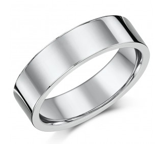 d17ddefe2694a 6mm Flat Court Sterling Silver Wedding Ring Band - Sterling Silver ...