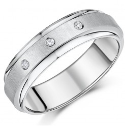 7mm Men's Engagement Ring Titanium Diamond Wedding Ring Unisex Ladies Men's