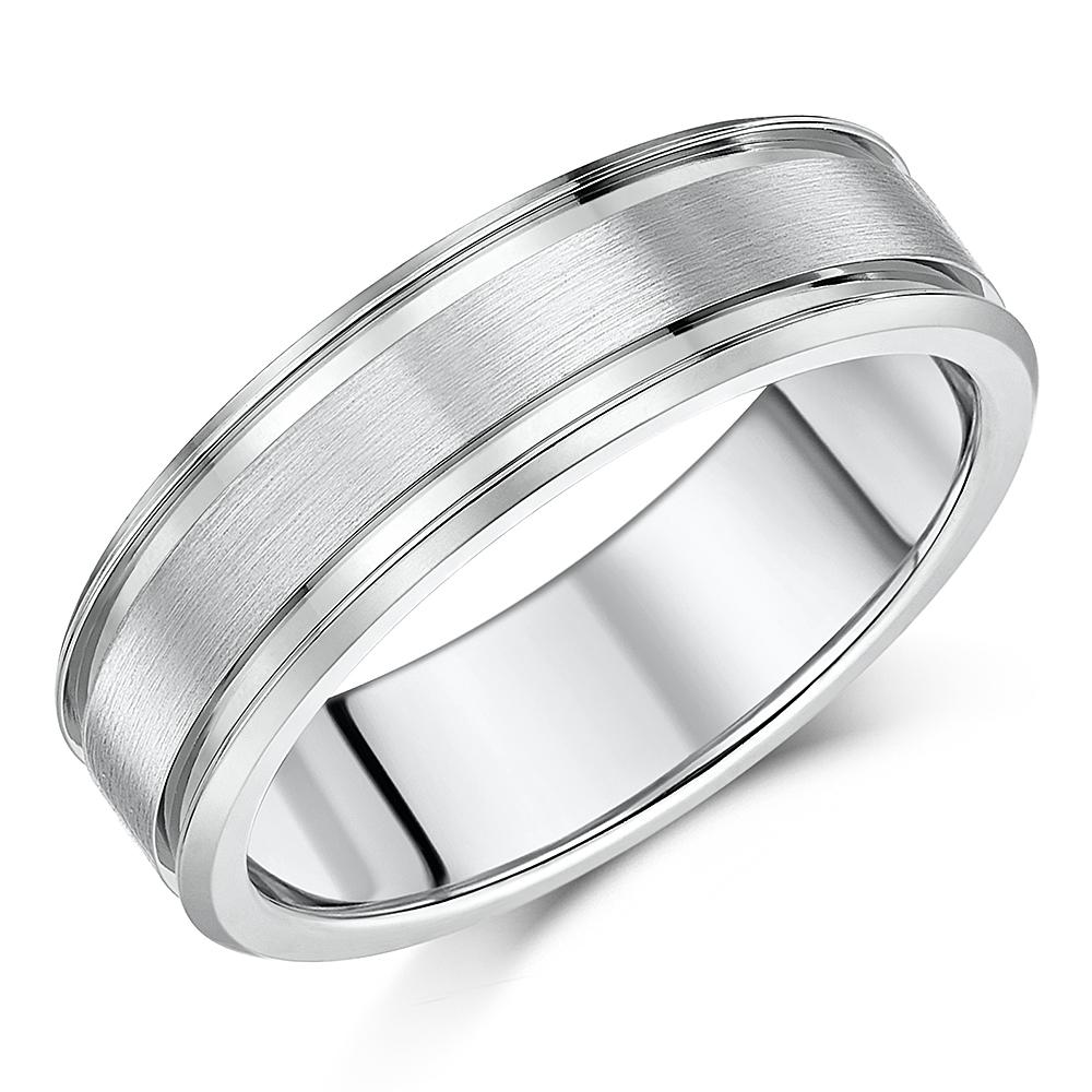 7mm Titanium Diamond Wedding Ring