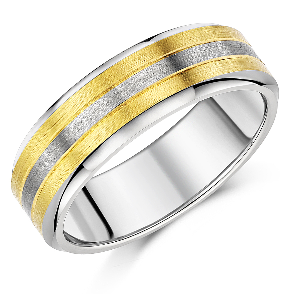 ''SALE''   8mm Titanium Two Tone Wedding Ring Band
