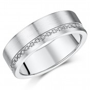 7mm Titanium Diamond Eternity Wedding Ring Band