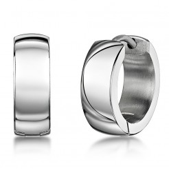 Titanium High Polished Hinged Hoop Earring