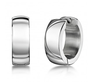 60c646e6ab224 Titanium High Polished Hinged Hoop Earring - Titanium Earrings at ...