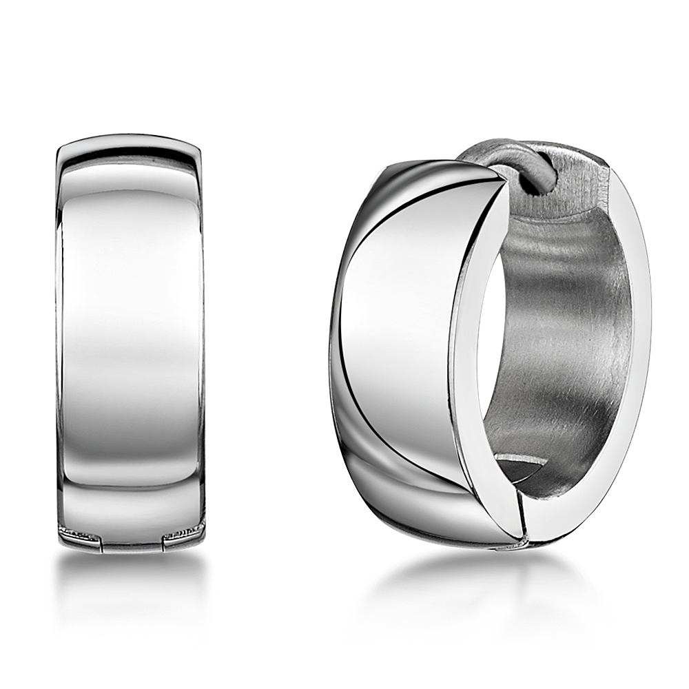 Titanium High Polished Hinged Hoop Earring