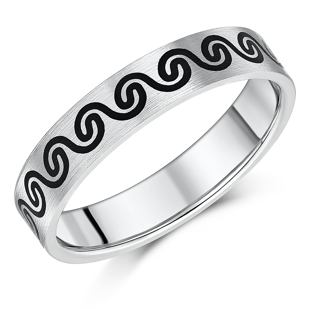 5mm Celtic Designed Titanium Wedding Ring