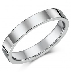 Titanium Flat Court Shaped Wedding Ring 4mm