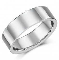 Titanium Flat Court Shaped Wedding Ring 8mm