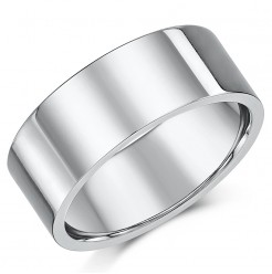 Titanium Flat Court Shaped Wedding Ring 9mm