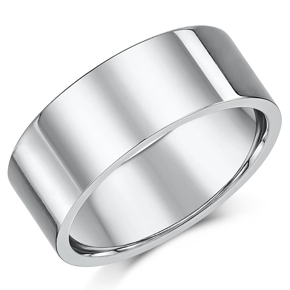 Titanium Flat Court Shaped Wedding Ring 9mm