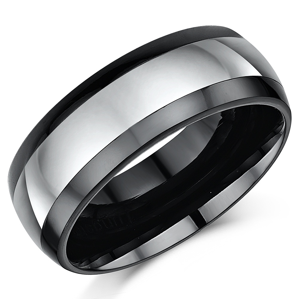 8mm Mens Nickel Free Tungsten Ceramic Wedding Ring Band Nickel