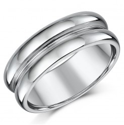 8mm Designed Tungsten Wedding Ring