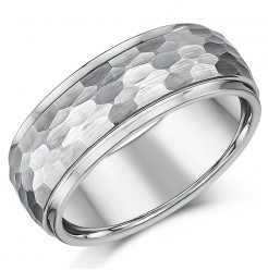 8mm Designed Tungsten Wedding Ring Band
