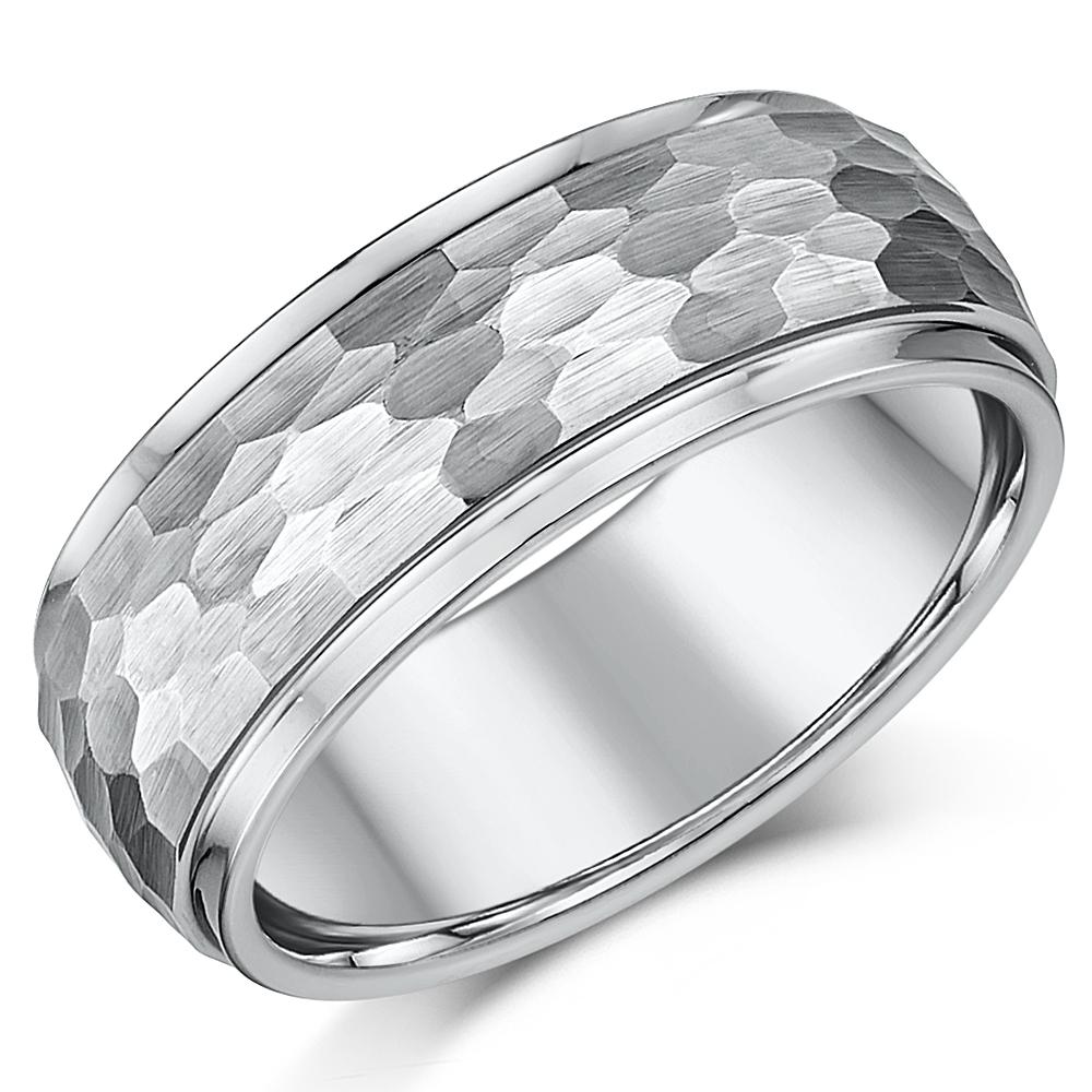 8mm Designed Tungsten Wedding Ring Band