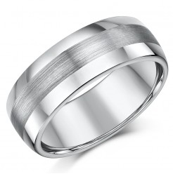 8mm Tungsten Men's Wedding Band (Nickelfree)